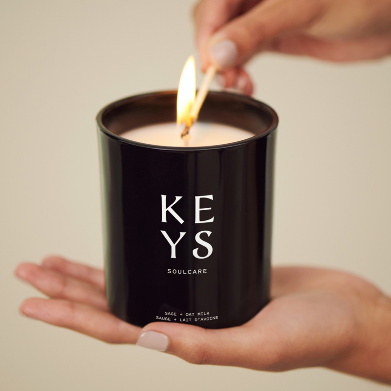 Keys Soulcare sage and oat milk candle-beautymagic